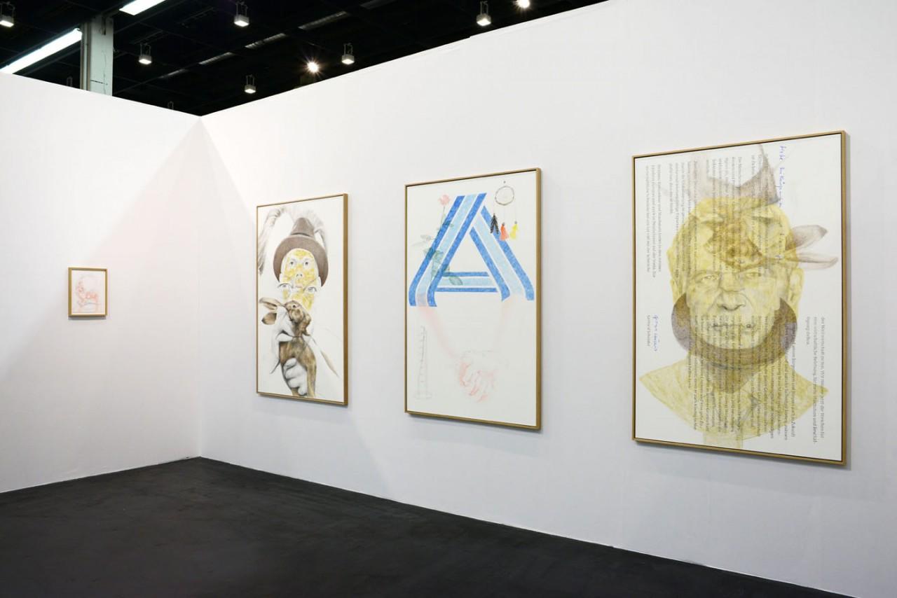 Ginerva Gambino Alex Wissel at Art Cologne 2017