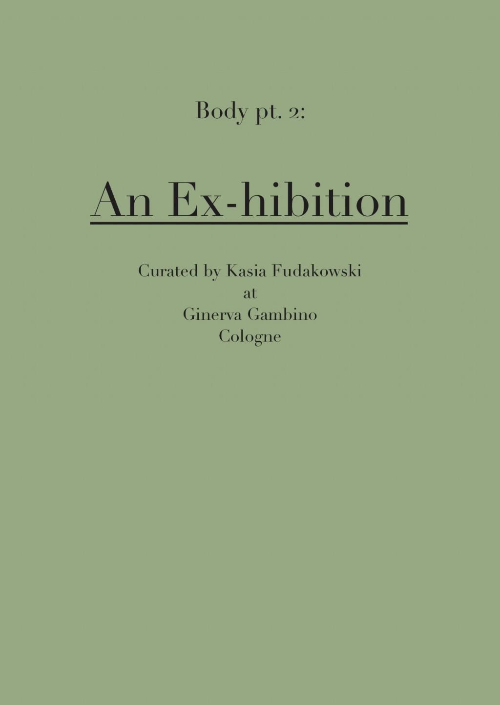 Ginerva Gambino Body pt 2 (Ex-hibition)