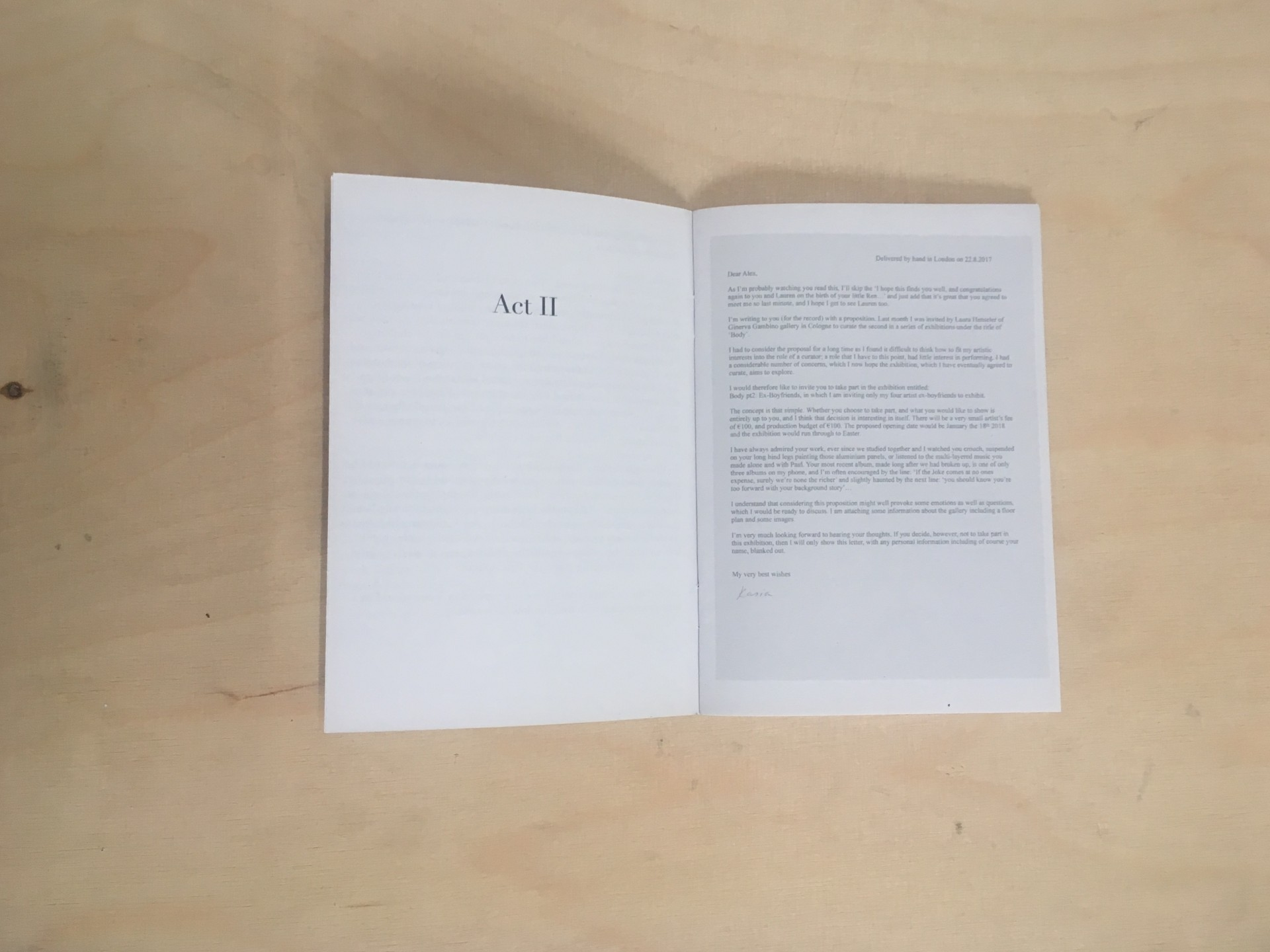 Ginerva Gambino Body pt 2 (Ex-hibition) Booklet